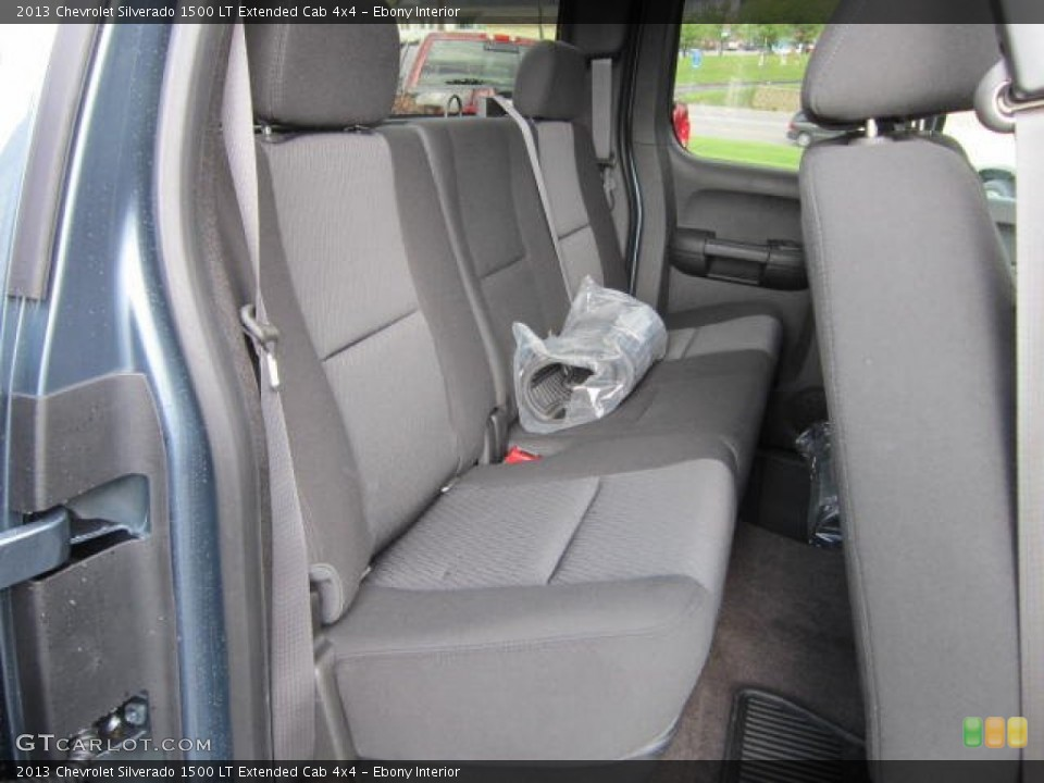 Ebony Interior Rear Seat for the 2013 Chevrolet Silverado 1500 LT Extended Cab 4x4 #69043514