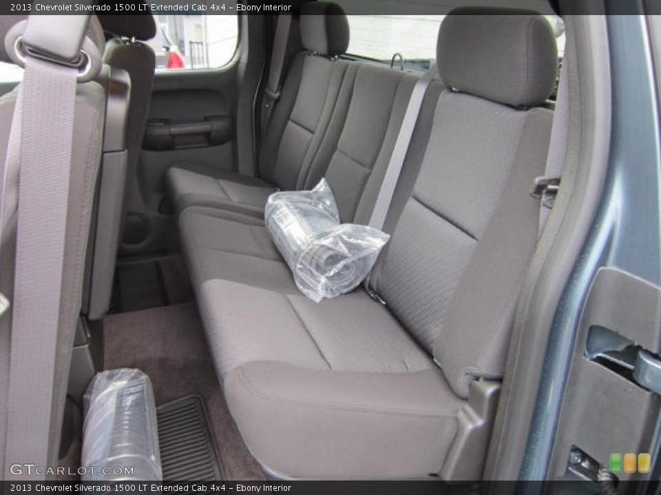 Ebony Interior Rear Seat for the 2013 Chevrolet Silverado 1500 LT Extended Cab 4x4 #69043532