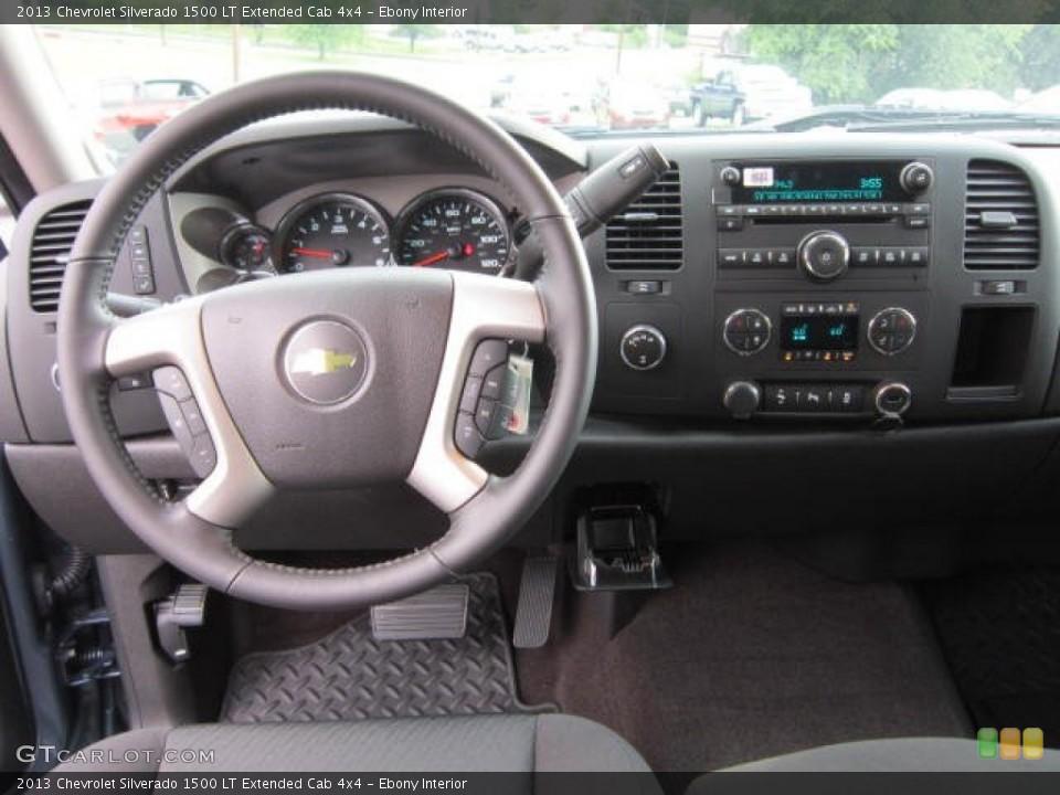 Ebony Interior Dashboard for the 2013 Chevrolet Silverado 1500 LT Extended Cab 4x4 #69043541