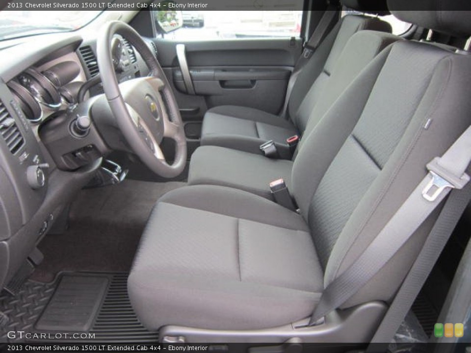 Ebony Interior Front Seat for the 2013 Chevrolet Silverado 1500 LT Extended Cab 4x4 #69043550