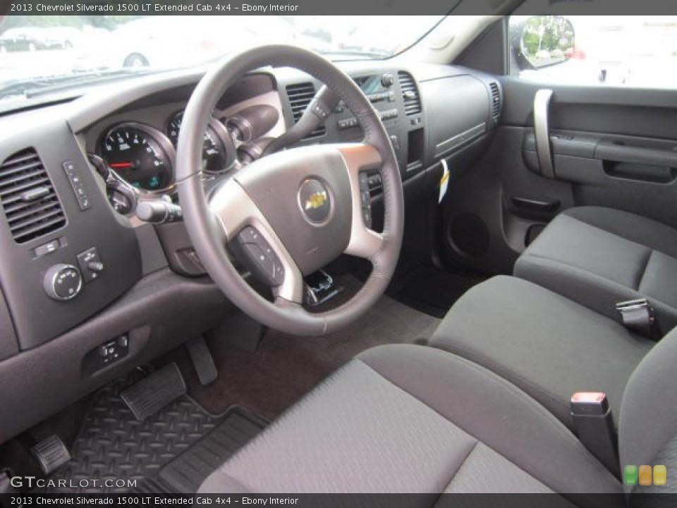 Ebony Interior Prime Interior for the 2013 Chevrolet Silverado 1500 LT Extended Cab 4x4 #69043559