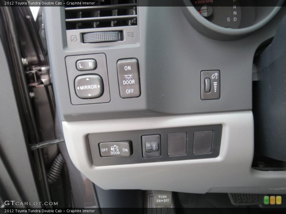 Graphite Interior Controls for the 2012 Toyota Tundra Double Cab #69085019