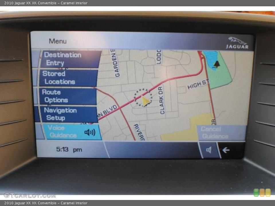 Caramel Interior Navigation for the 2010 Jaguar XK XK Convertible #69234372