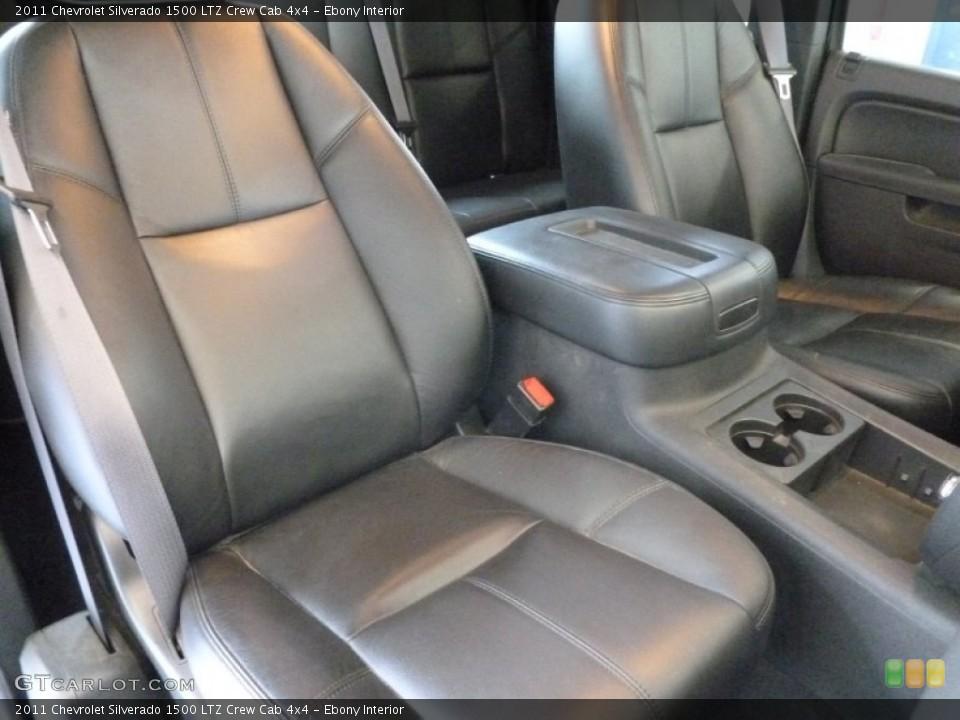 Ebony Interior Front Seat for the 2011 Chevrolet Silverado 1500 LTZ Crew Cab 4x4 #69408243