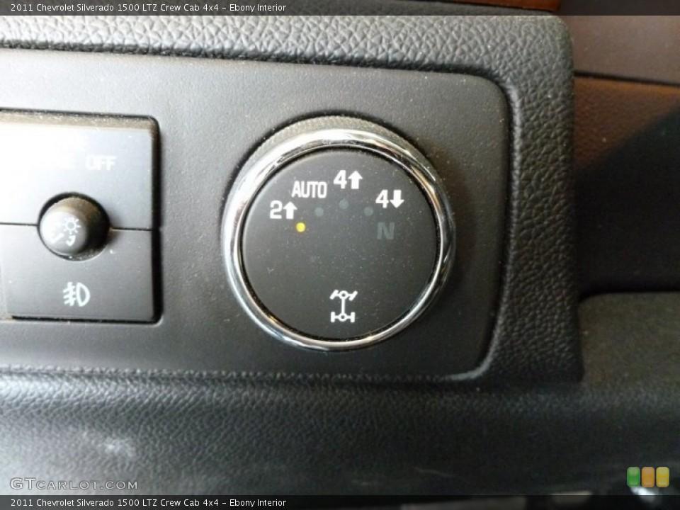Ebony Interior Controls for the 2011 Chevrolet Silverado 1500 LTZ Crew Cab 4x4 #69408309