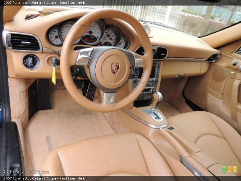 Sand Beige 2007 Porsche 911 Interiors
