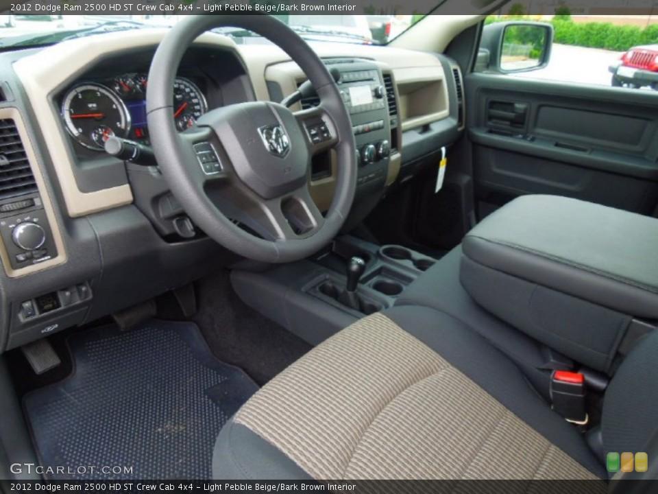 light pebble beigebark brown interior prime interior for the 2012 dodge ram 2500 hd - 2012 Dodge Ram 2500 Cummins Interior