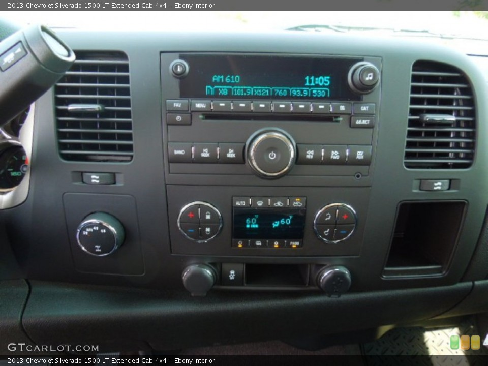 Ebony Interior Controls for the 2013 Chevrolet Silverado 1500 LT Extended Cab 4x4 #69529905