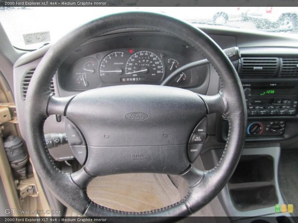 Medium Graphite Interior Steering Wheel for the 2000 Ford Explorer XLT 4x4 #69535662