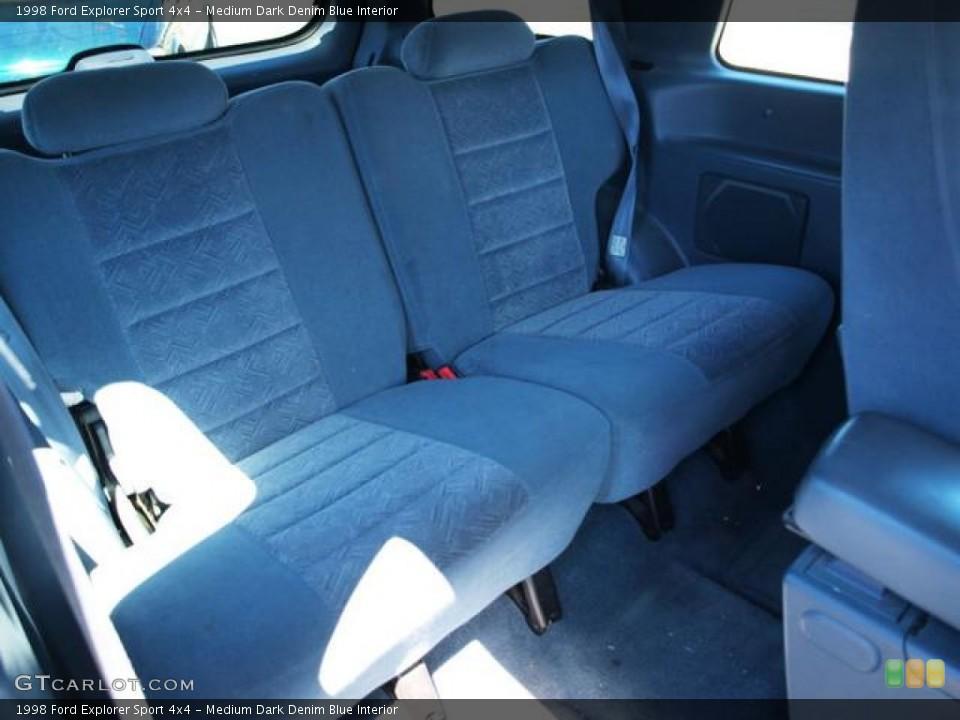 Medium Dark Denim Blue Interior Rear Seat for the 1998 Ford Explorer Sport 4x4 #69601043