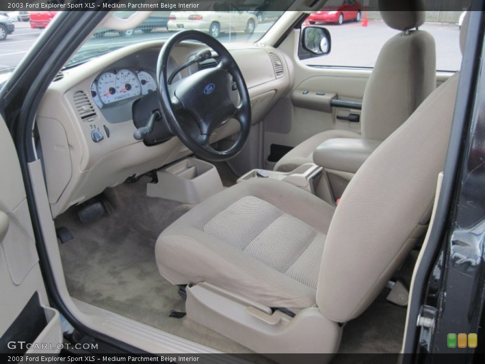 Medium Parchment Beige Interior Front Seat for the 2003 Ford Explorer Sport XLS #69628828