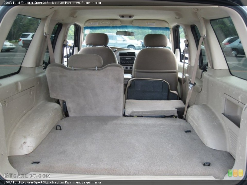 Medium Parchment Beige Interior Trunk for the 2003 Ford Explorer Sport XLS #69628846