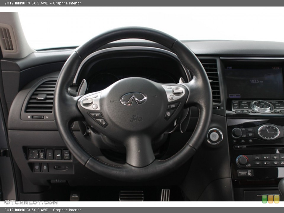 Graphite Interior Steering Wheel for the 2012 Infiniti FX 50 S AWD #69683848