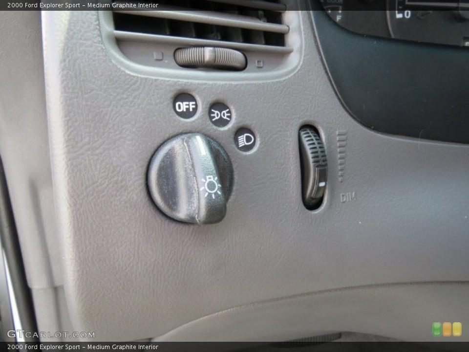 Medium Graphite Interior Controls for the 2000 Ford Explorer Sport #69697048