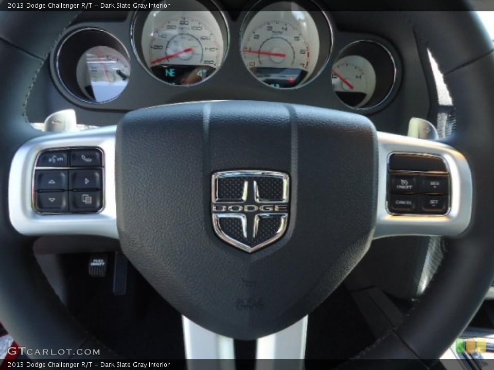 Dark Slate Gray Interior Steering Wheel for the 2013 Dodge Challenger R/T #69765391