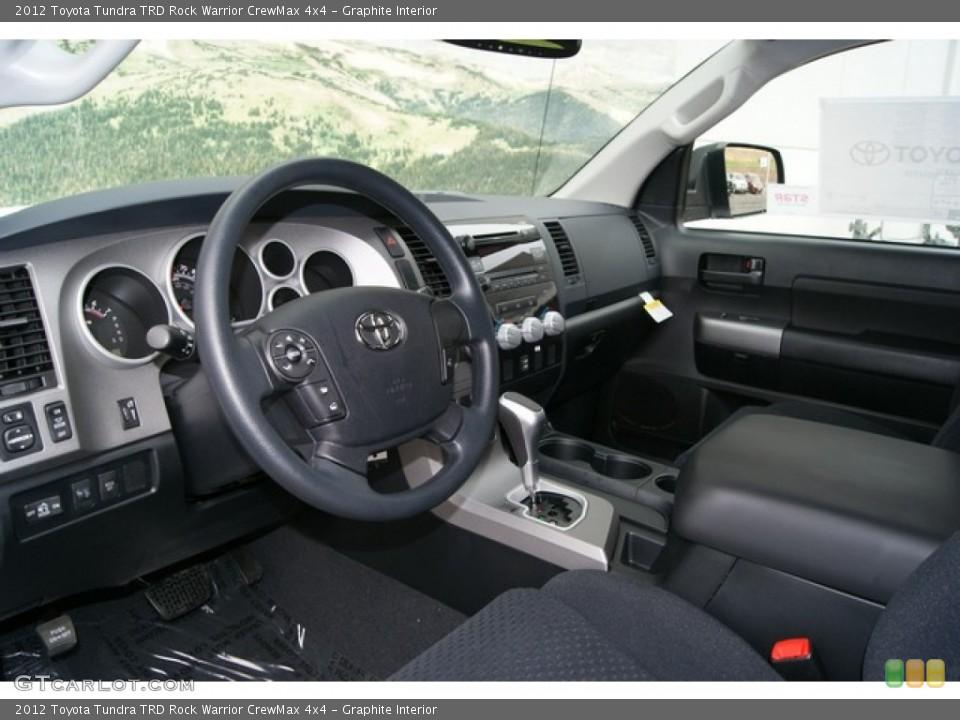 Graphite Interior Prime Interior for the 2012 Toyota Tundra TRD Rock Warrior CrewMax 4x4 #69772522