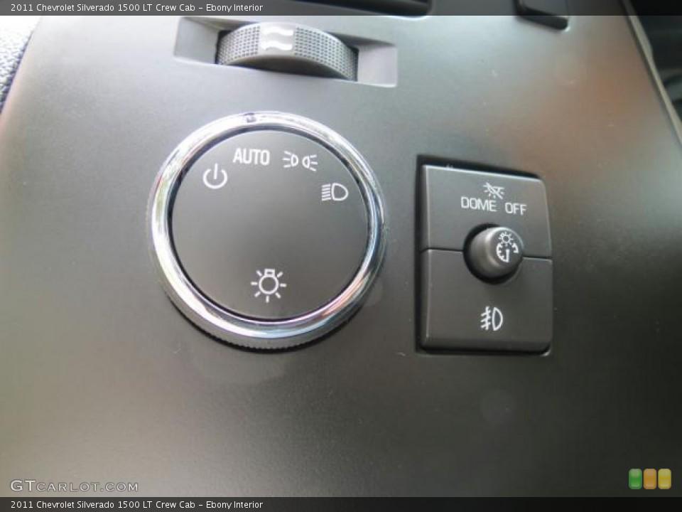 Ebony Interior Controls for the 2011 Chevrolet Silverado 1500 LT Crew Cab #69839437