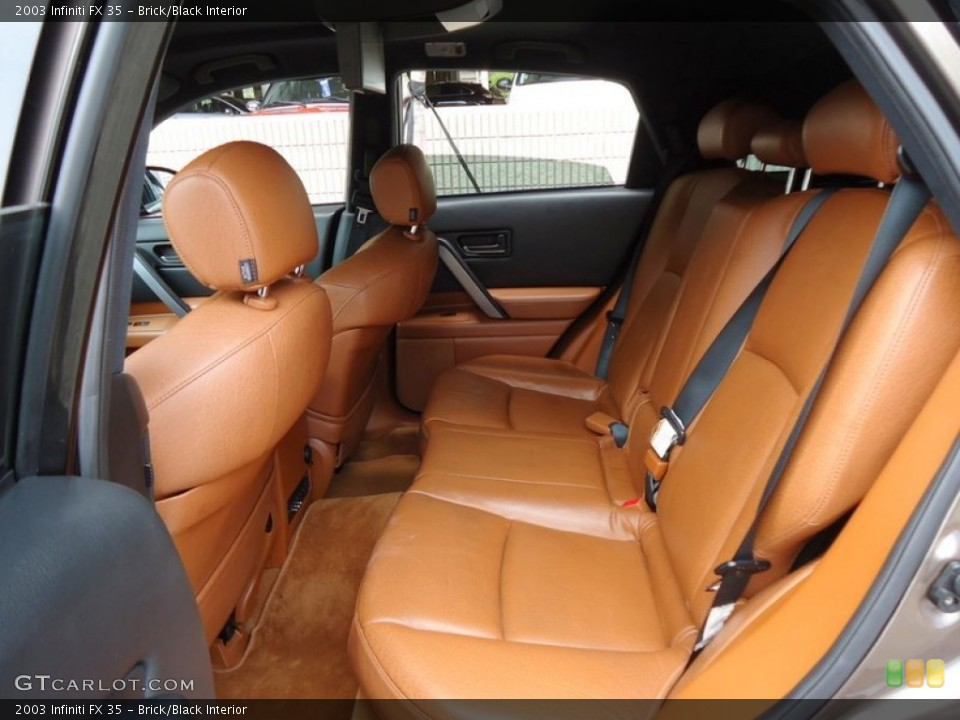 Brick/Black Interior Rear Seat for the 2003 Infiniti FX 35 #69993936