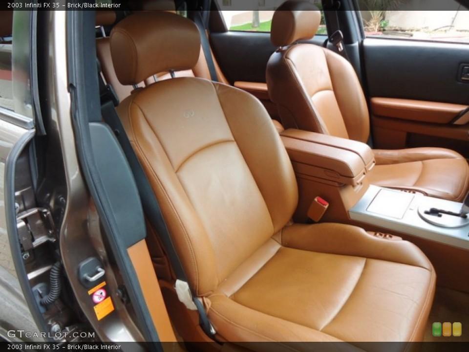 Brick/Black Interior Front Seat for the 2003 Infiniti FX 35 #69994044