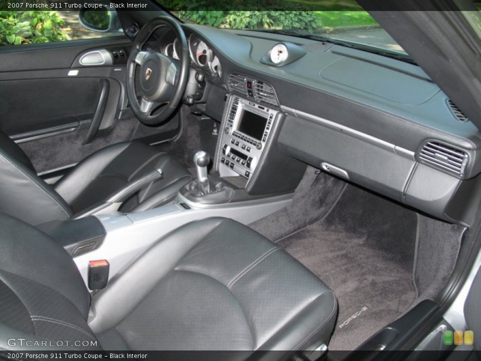 Black Interior Photo for the 2007 Porsche 911 Turbo Coupe #70026741