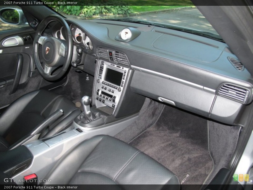 Black Interior Dashboard for the 2007 Porsche 911 Turbo Coupe #70026778