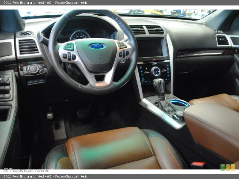Pecan/Charcoal Interior Dashboard for the 2011 Ford Explorer Limited 4WD #70045955