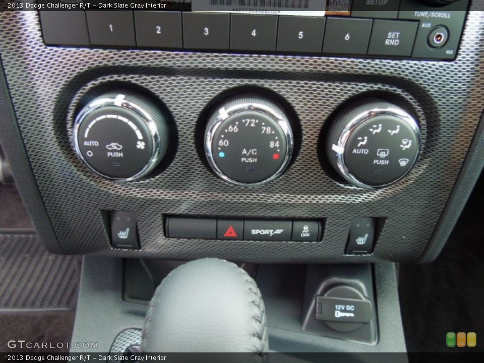 Dark Slate Gray Interior Controls for the 2013 Dodge Challenger R/T #70075691