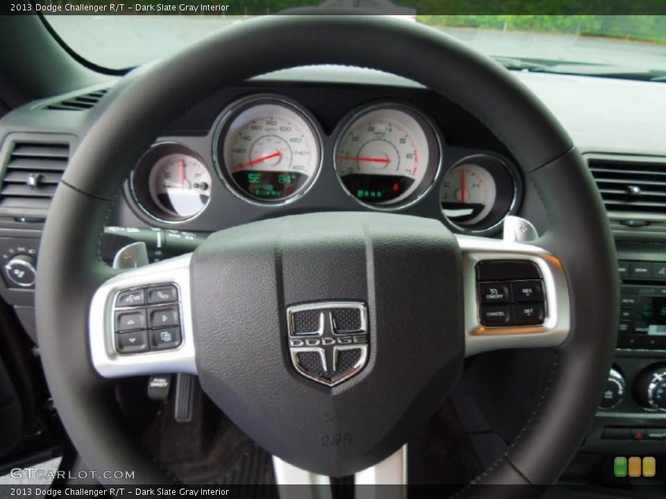 Dark Slate Gray Interior Steering Wheel for the 2013 Dodge Challenger R/T #70075709