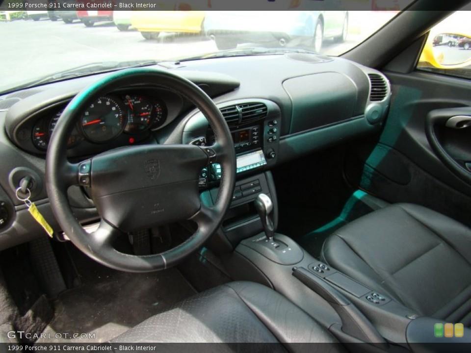 Black 1999 Porsche 911 Interiors