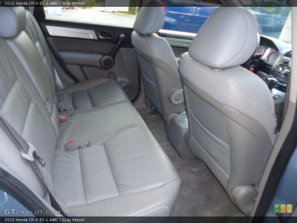 Gray Interior Rear Seat for the 2010 Honda CR-V EX-L AWD #70121883