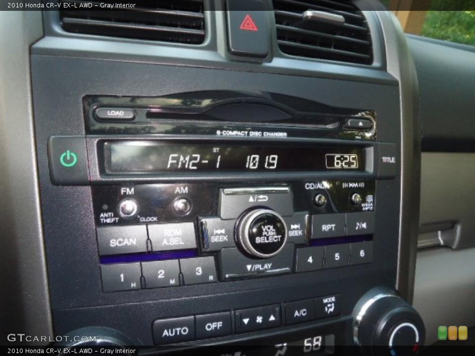 Gray Interior Controls for the 2010 Honda CR-V EX-L AWD #70121937