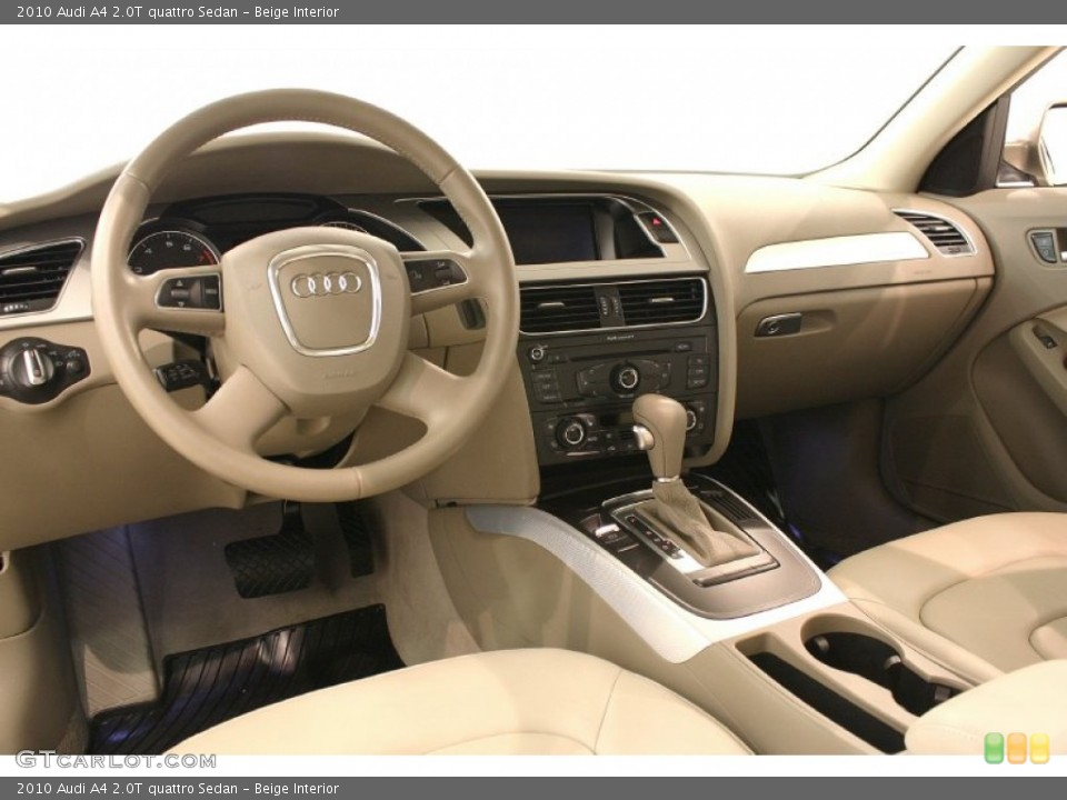 Prime Interior photos of the 2010 Audi A4 in Beige