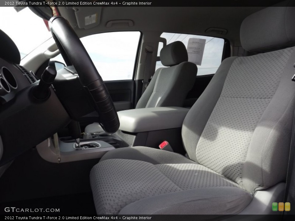 Graphite Interior Photo for the 2012 Toyota Tundra T-Force 2.0 Limited Edition CrewMax 4x4 #70149860