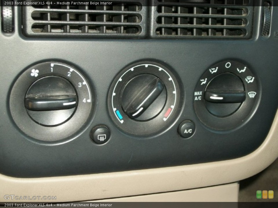 Medium Parchment Beige Interior Controls for the 2003 Ford Explorer XLS 4x4 #70158380