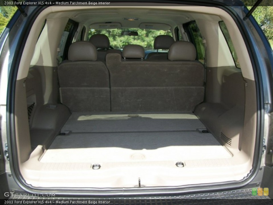 Medium Parchment Beige Interior Trunk for the 2003 Ford Explorer XLS 4x4 #70158515