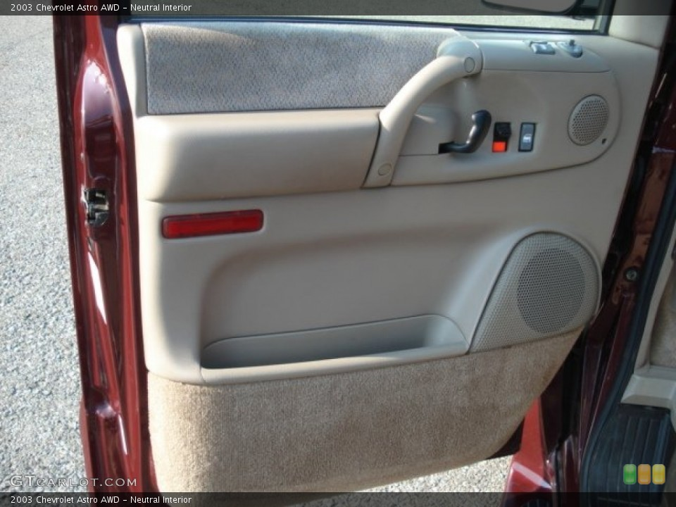 Neutral Interior Door Panel for the 2003 Chevrolet Astro AWD #70262743
