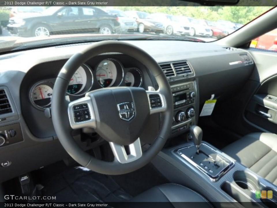 Dark Slate Gray Interior Dashboard for the 2013 Dodge Challenger R/T Classic #70284262