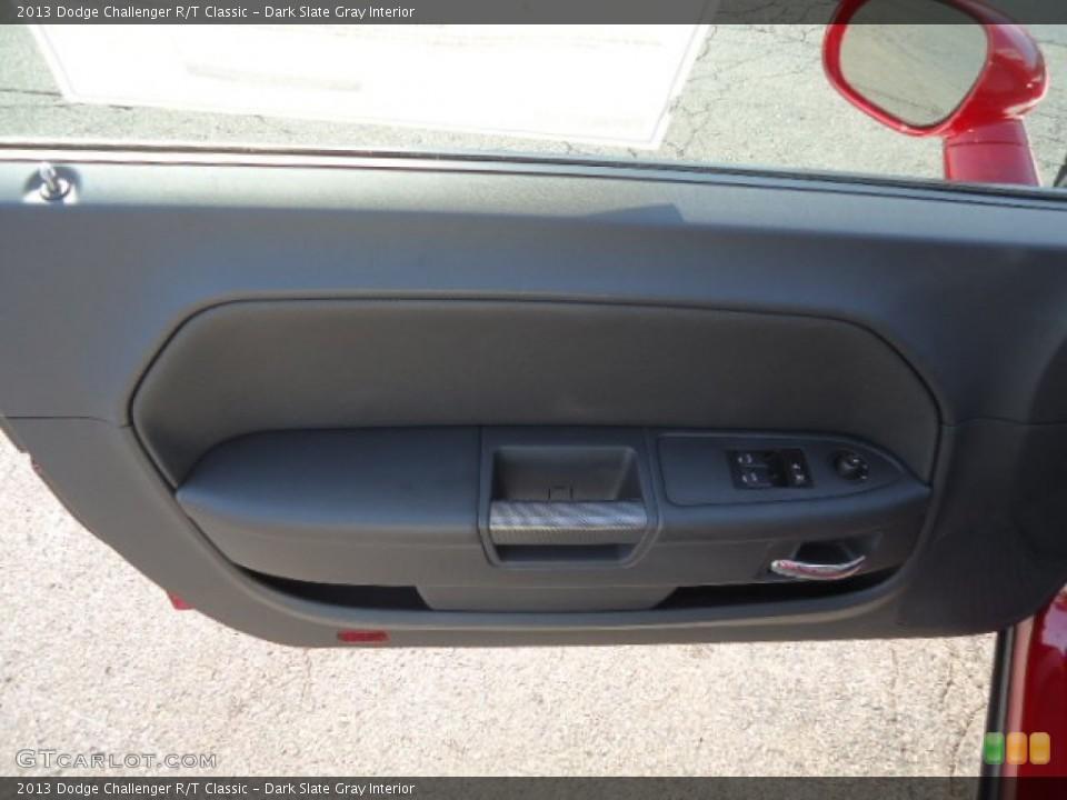 Dark Slate Gray Interior Door Panel for the 2013 Dodge Challenger R/T Classic #70284277