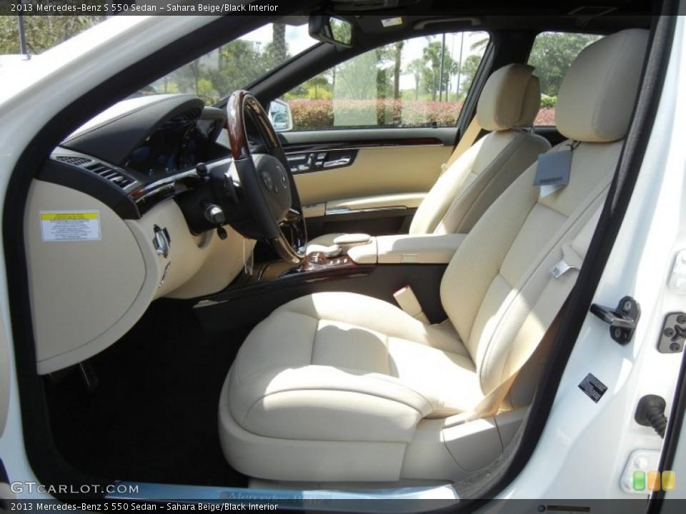Sahara Beige/Black 2013 Mercedes-Benz S Interiors