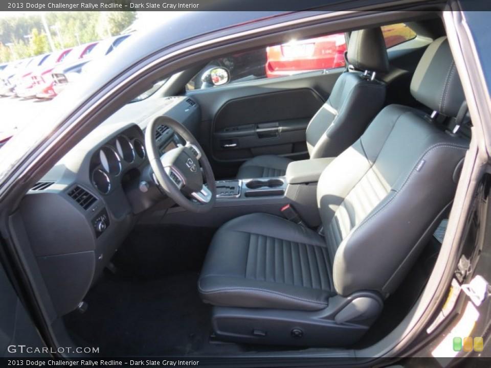Dark Slate Gray Interior Front Seat for the 2013 Dodge Challenger Rallye Redline #70483223