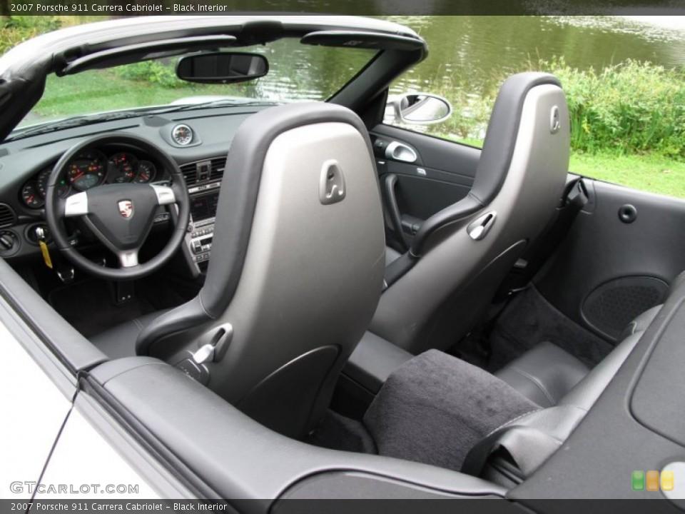 Black Interior Photo for the 2007 Porsche 911 Carrera Cabriolet #70556128