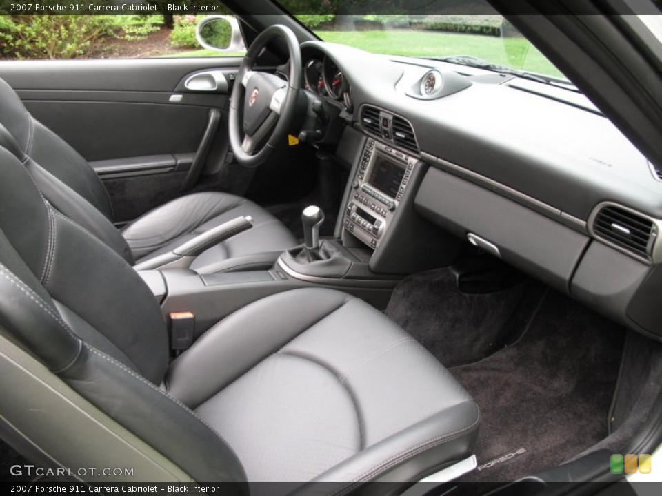 Black Interior Photo for the 2007 Porsche 911 Carrera Cabriolet #70556155