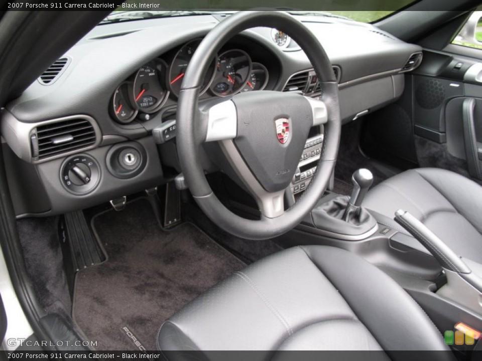 Black Interior Prime Interior for the 2007 Porsche 911 Carrera Cabriolet #70556194