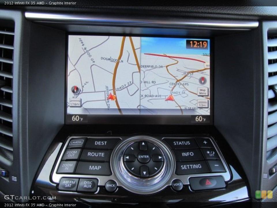 Graphite Interior Navigation for the 2012 Infiniti FX 35 AWD #70683967