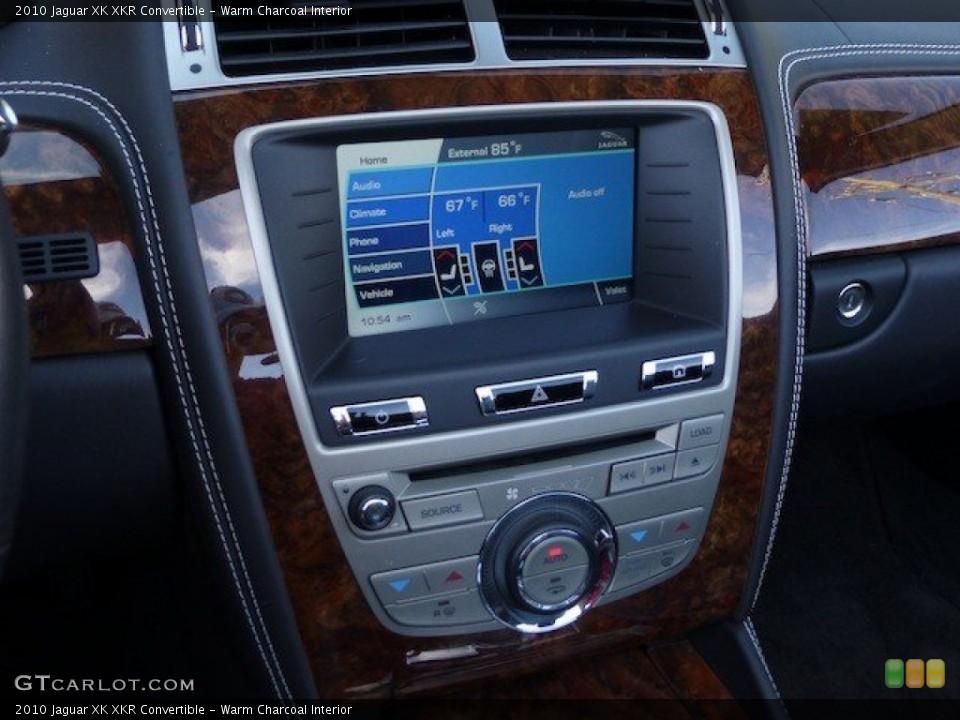 Warm Charcoal Interior Controls for the 2010 Jaguar XK XKR Convertible #70739333
