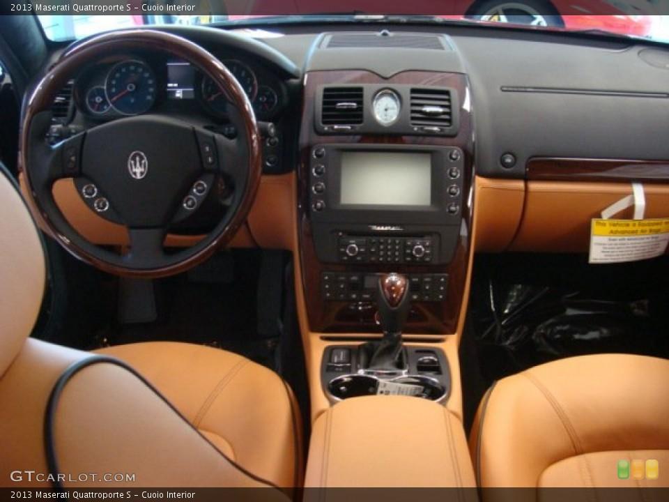 Cuoio Interior Dashboard for the 2013 Maserati Quattroporte S ... Maserati Quattroporte 2013 Interior