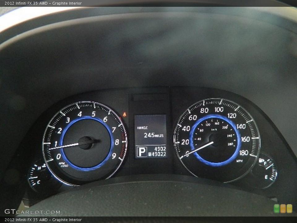 Graphite Interior Gauges for the 2012 Infiniti FX 35 AWD #70863472