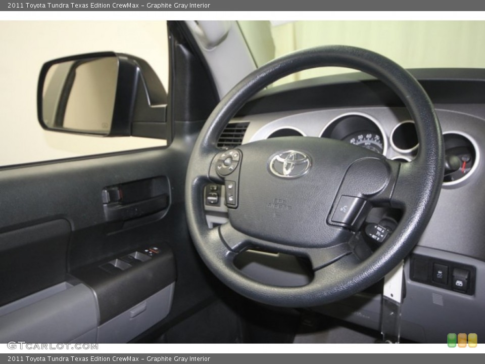 Graphite Gray Interior Steering Wheel for the 2011 Toyota Tundra Texas Edition CrewMax #70938088