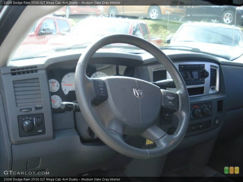 Medium Slate Gray Interior Steering Wheel for the 2008 Dodge Ram 3500 SLT Mega Cab 4x4 Dually #70952278