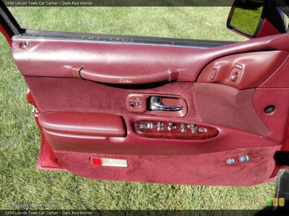 Dark Red Interior Door Panel for the 1996 Lincoln Town Car Cartier #70972942